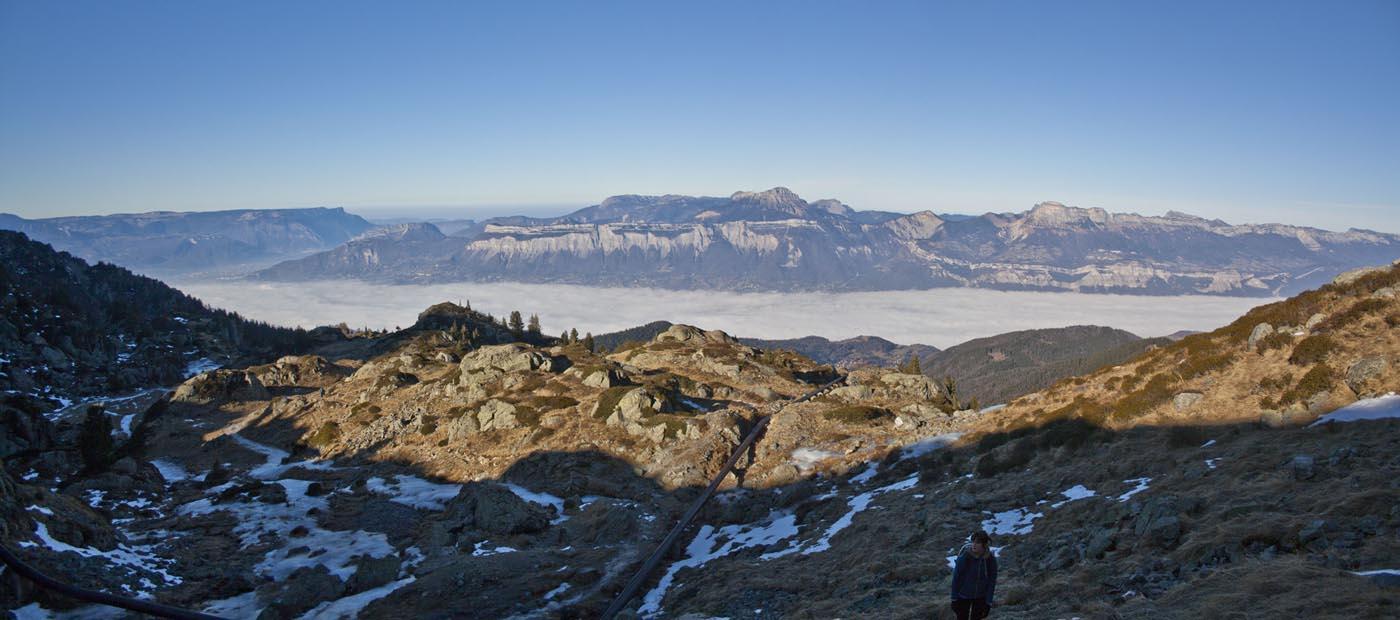 Photo panoramique / Paysage de montagne / vue depuis Belledone Grenoble Isère