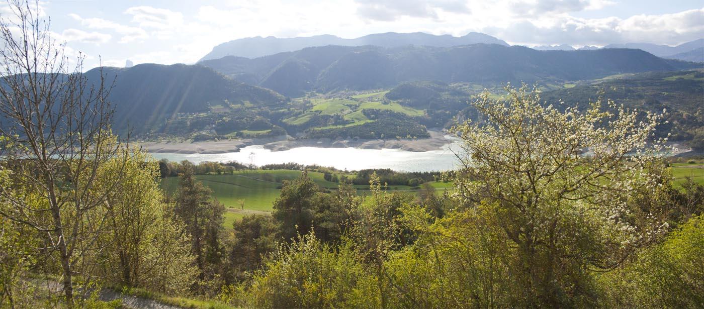 Panoramique lac de Monteynard - randonnée du Sénépi