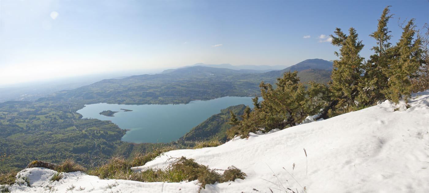 Panorama sur Aiguebelette - Randonnée autour de Chambéry