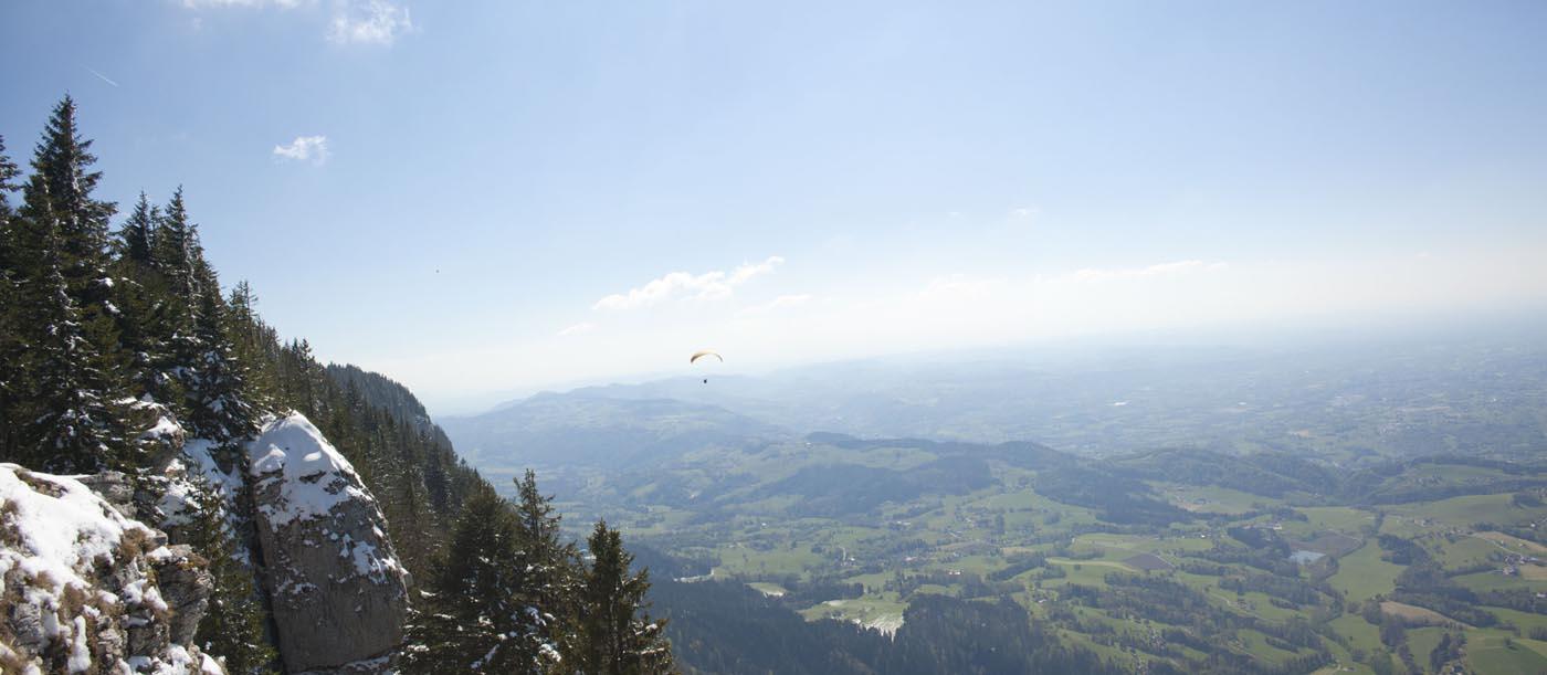 Panorama Mont Grelle, autour de Chambéry, Aiguebelette