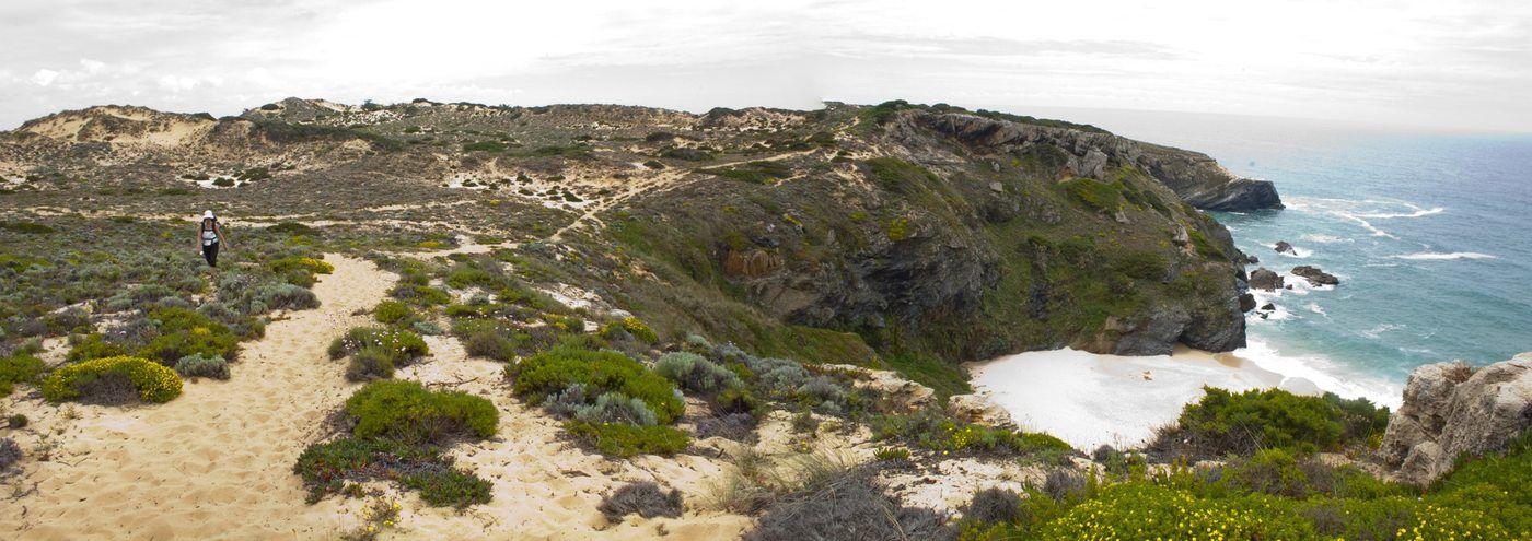 Paysage randonnée littoral Portugal plage