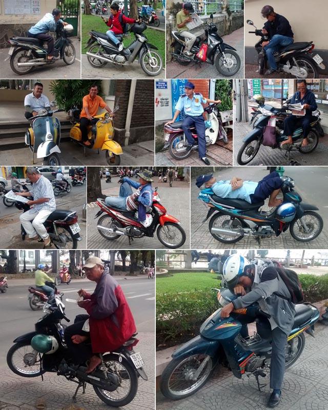 Les viets et leur motos