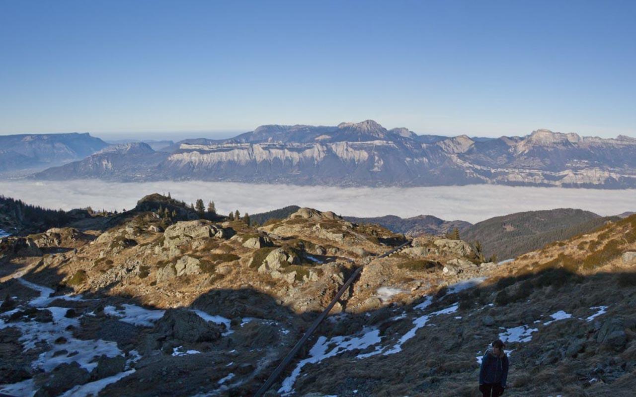 Ascension du lac de Crozet