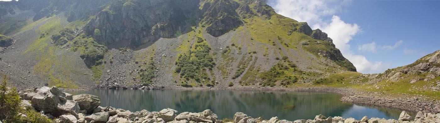 Ascension au lac de Crop